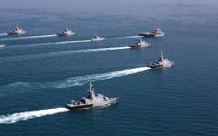 الصورة: الصورة: التحالف البحري يضبط أكبر شحنة من مخدر الميثامفيتامين في بحر العرب