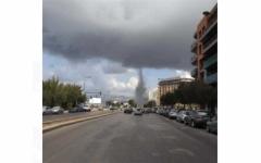 """الصورة: الصورة: زوبعة بحرية تثير فزع اللبنانيين في محيط مرفأ بيروت """"فيديو"""""""