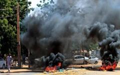 الصورة: الصورة: قتيل و14 جريحاً في احتجاجات بالسودان