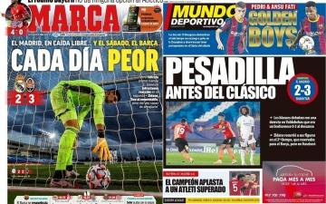 الصورة: الصورة: الصحف الإسبانية تهاجم الريال بعد الخسارة الأوروبية