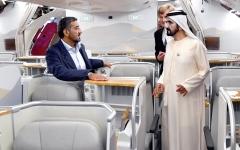 الصورة: الصورة: محمد بن راشد يحول الحلم إلى حقيقة.. طيران الإمارات ناقلة من ذهب
