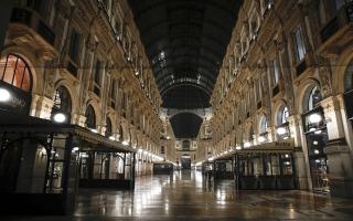 """الصورة: الصورة: شاهد.. ميلانو تتحوّل إلى مدينة أشباح بسبب """"الحظر"""""""