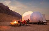 الصورة: الصورة: سياحة أبوظبي تفتتح الموسم الجديد لمنتزه جبل حفيت الصحراوي
