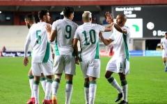 الصورة: الصورة: الجزائر تفوز بسهولة على زيمبابوي بثلاثية في تصفيات أمم أفريقيا