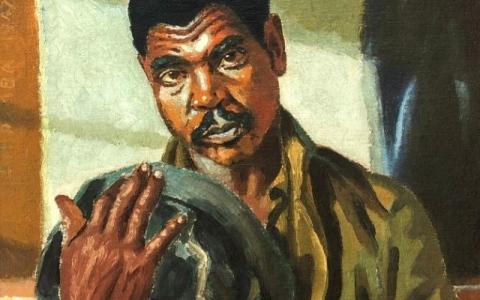 الصورة: الصورة: لوحة من أول أعمال جورج بيمبا في مزاد علني