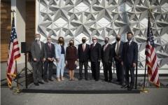 الصورة: الصورة: اكتمال أعمال تشييد جناح الولايات المتحدة الأمريكية في إكسبو 2020 دبي