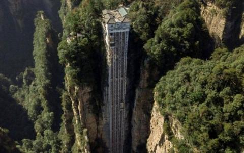 الصورة: الصورة: المصعد الأطول في العالم يعود إلى العمل