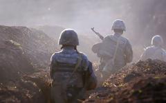 الصورة: الصورة: جيش أذربيجان يدخل إقليم أغدام بعد انسحاب أرمينيا