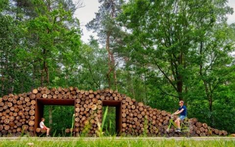 الصورة: الصورة: مسار دراجات دائري يصافح الأشجار في بلجيكا