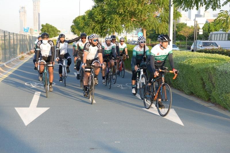 الصورة : عبدالله المري خلال مشاركته في فعالية الدراجات الهوائية | من المصدر