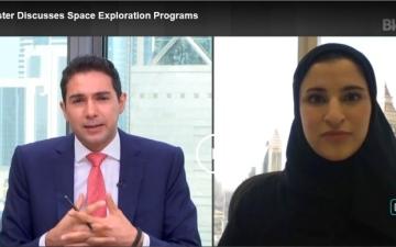 الصورة: الصورة: سارة الأميري لـ «بلومبرغ»:  الإمارات حريصة على التعاون الدولي في الفضاء لفائدة الإنسانية