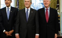 """الصورة: الصورة: بوش وكلينتون وأوباما.. قرار ثلاثي """"من أجل اللقاح"""""""