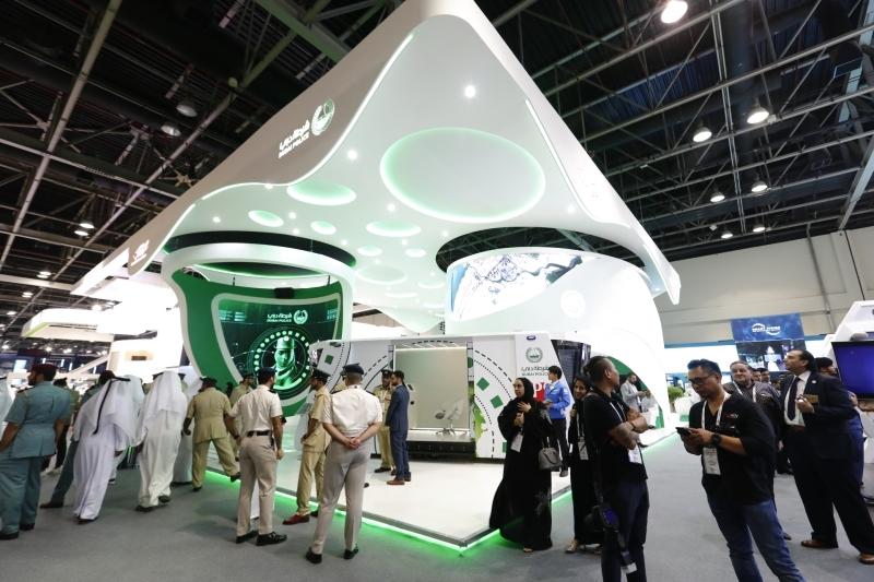 الصورة : خلال مشاركة سابقة لشرطة دبي في معرض جيتكس | أرشيفية