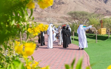 الصورة: الصورة: هالة بدري تستطلع آفاق تنمية حتا على الصعيد الثقافي