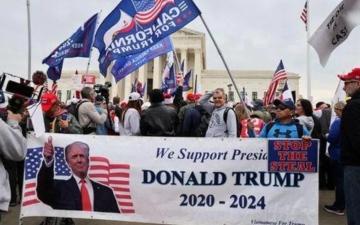 الصورة: الصورة: مسيرات في أمريكا احتجاجا على خسارة ترامب