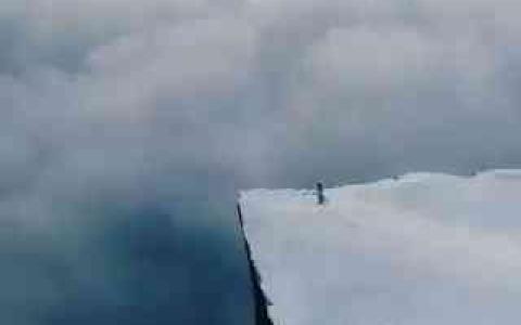 الصورة: الصورة: فيديو مذهل لحافة العالم في النرويج