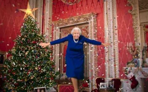 الصورة: الصورة: فيديو زائف لملكة بريطانيا يحذر من التضليل الرقمي