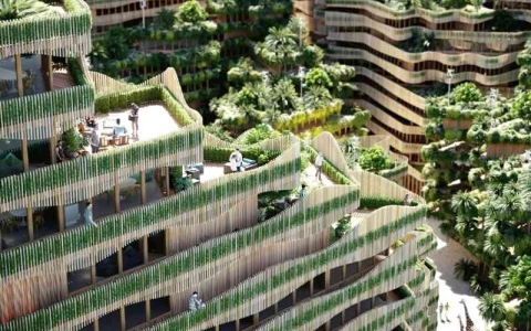 الصورة: الصورة: بناء مستدام قابل للتكيّف كالكائنات الحية