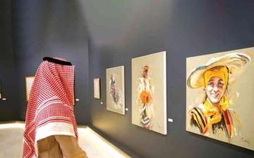 الصورة: الصورة: تشكيليون سعوديون يجسدون تراث المملكة في «الريشة الذهبية»