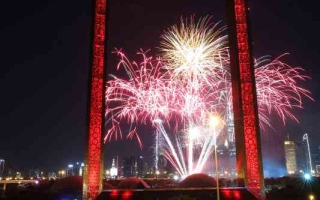 الصورة: الصورة: 116.5 ألف زائر لحدائق وبرواز دبي في رأس السنة