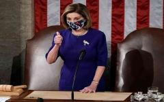 الصورة: الصورة: بيلوسي: الكونغرس سيعود للانعقاد للمصادقة على فوز بايدن