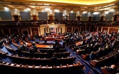 """الصورة: الصورة: """"الشيوخ الأمريكي"""" يستأنف جلسة المصادقة على انتخاب بايدن"""