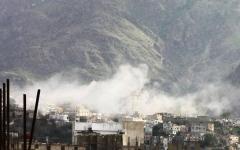 الصورة: الصورة: ميليشيا الحوثي تنكّل بسكان الحيمة شرقي تعز