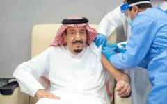 الصورة: الصورة: شاهد .. الملك سلمان يتلقى الجرعة الأولى من لقاح كورونا