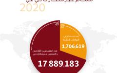 الصورة: الصورة: 18 مليون مسافر عبر منافذ دبي في 2020