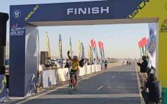 الصورة: الصورة: مدية آل مكتوم بطلة سباق السلم للسيدات الهواة