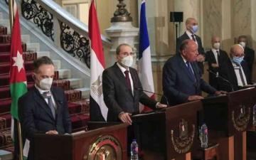 الصورة: الصورة: اجتماع رباعي يدعم تسوية «حل الدولتين»