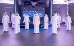 """الصورة: الصورة: محمد بن راشد يطلق برنامج هيئة كهرباء ومياه دبي للفضاء """"سبيس دي"""" ومشاريع """"قمة دبي"""" و""""شلالات حتا المستدامة"""""""
