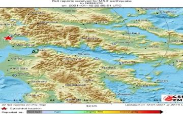 الصورة: الصورة: زلزال بقوة 5.2 درجة يضرب اليونان
