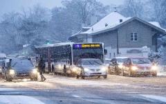 الصورة: الصورة: فوضى سفر في فرنسا بسبب تساقط الثلوج