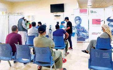الصورة: الصورة: %40 التطعيم في جامعة الشارقة و%60 في «عجمان الطبية»