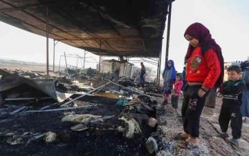 الصورة: الصورة: تعزيزات تركية واشتباكات متقطعة في إدلب