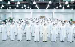 الصورة: الصورة: محمد بن راشد يزور أمن الدولة في دبي ويطلع على أهم الإنجازات