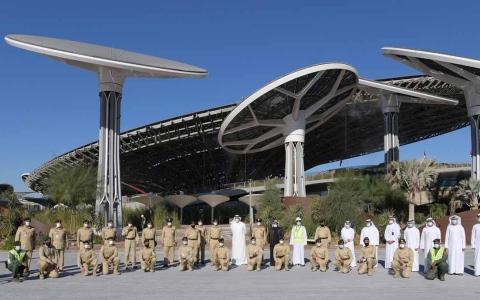 الصورة: الصورة: قائد عام شرطة دبي يطلع على إجراءات افتتاح العرض الأول لأجنحة إكسبو 2020