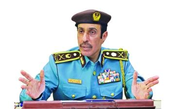 الصورة: الصورة: سلطان النعيمي القائد العام لشرطة عجمان لـ«البيان»: 11 % انخفاض القضايا الخطرة خلال 2020