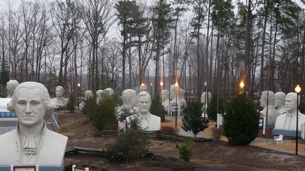 الصورة : حديقة الرؤساء الأصلية قبل إغلاقها