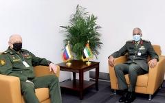 الصورة: الصورة: قائد القوات البرية يبحث العلاقات مع روسيا