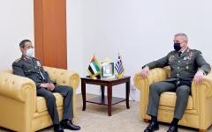 الصورة: الصورة: رئيس أركان القوات المسلحة يستقبل عدداً من ضيوف «آيدكس»