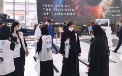 الصورة: الصورة: مواطنات يتطوعن للمساهمة في نجاح «آيدكس» و«نافدكس»