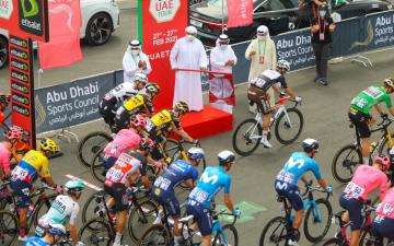 الصورة: الصورة: انطلاق المرحلة الخامسة لطواف الدراجات الهوائية من الفجيرة