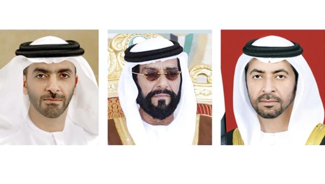 حمدان بن زايد وطحنون بن محمد وسيف بن زايد يقدمون التهاني