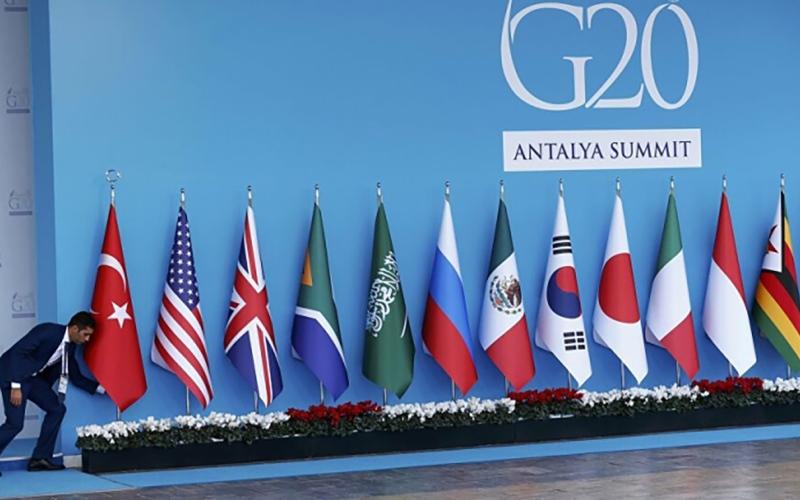 الصورة: الصورة: «مجموعة العشرين» تبحث إنعاش الاقتصاد العالمي المستنزف