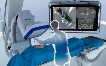الصورة: الصورة: فيليبس تطلق جهازاً يعمل بتقنية الواقع المعزز يسهل جراحات العمود الفقري