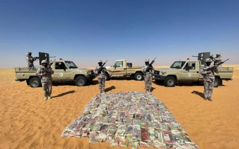الصورة: الصورة: السعودية .. حرس الحدود يحبط محاولة تهريب طن ونصف من الحشيش