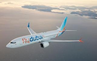 """الصورة: الصورة: """"فلاي دبي"""" تقوم برحلة استعداد للخدمة على طائرة """"بوينج 737 ماكس"""""""
