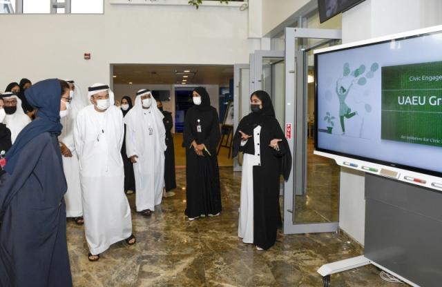 نورة الكعبي تفتتح مختبر ريادة الأعمال بجامعة الإمارات